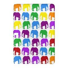 Rainbow Colors Bright Colorful Elephants Wallpaper Background Samsung Galaxy Tab Pro 10.1 Hardshell Case
