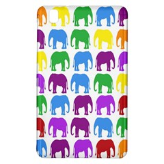 Rainbow Colors Bright Colorful Elephants Wallpaper Background Samsung Galaxy Tab Pro 8.4 Hardshell Case