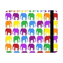 Rainbow Colors Bright Colorful Elephants Wallpaper Background Samsung Galaxy Tab Pro 8.4  Flip Case