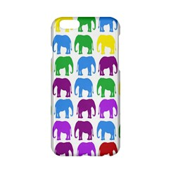 Rainbow Colors Bright Colorful Elephants Wallpaper Background Apple iPhone 6/6S Hardshell Case