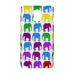 Rainbow Colors Bright Colorful Elephants Wallpaper Background Samsung Galaxy Note 4 Hardshell Case