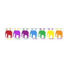 Rainbow Colors Bright Colorful Elephants Wallpaper Background Flano Scarf (mini)