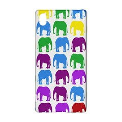 Rainbow Colors Bright Colorful Elephants Wallpaper Background Sony Xperia Z3+