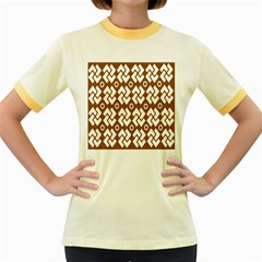Art Abstract Background Pattern Women s Fitted Ringer T-Shirts