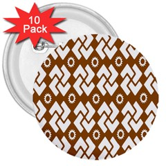 Art Abstract Background Pattern 3  Buttons (10 pack)