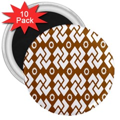 Art Abstract Background Pattern 3  Magnets (10 pack)