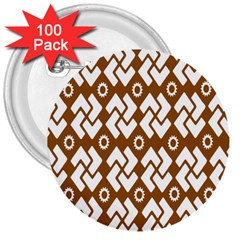 Art Abstract Background Pattern 3  Buttons (100 pack)
