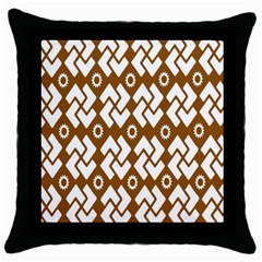 Art Abstract Background Pattern Throw Pillow Case (black)