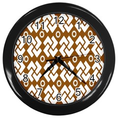 Art Abstract Background Pattern Wall Clocks (Black)