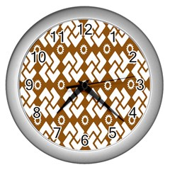 Art Abstract Background Pattern Wall Clocks (silver)
