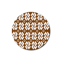 Art Abstract Background Pattern Rubber Coaster (Round)