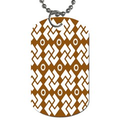 Art Abstract Background Pattern Dog Tag (one Side)