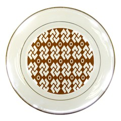 Art Abstract Background Pattern Porcelain Plates