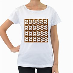 Art Abstract Background Pattern Women s Loose Fit T Shirt (white)