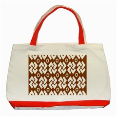 Art Abstract Background Pattern Classic Tote Bag (red)