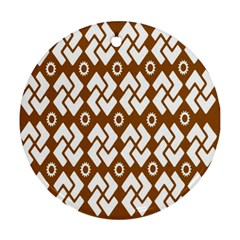 Art Abstract Background Pattern Round Ornament (Two Sides)