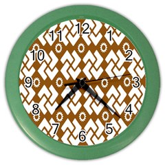 Art Abstract Background Pattern Color Wall Clocks