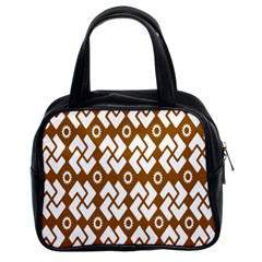 Art Abstract Background Pattern Classic Handbags (2 Sides)