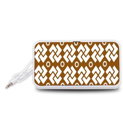 Art Abstract Background Pattern Portable Speaker (White)