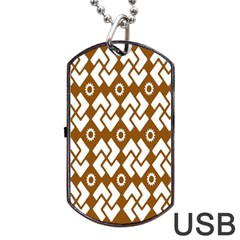 Art Abstract Background Pattern Dog Tag USB Flash (One Side)