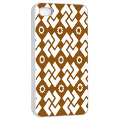 Art Abstract Background Pattern Apple Iphone 4/4s Seamless Case (white)