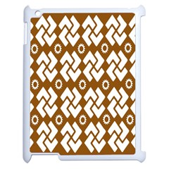 Art Abstract Background Pattern Apple iPad 2 Case (White)