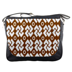 Art Abstract Background Pattern Messenger Bags