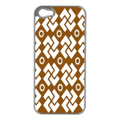 Art Abstract Background Pattern Apple iPhone 5 Case (Silver)