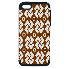 Art Abstract Background Pattern Apple iPhone 5 Hardshell Case (PC+Silicone)
