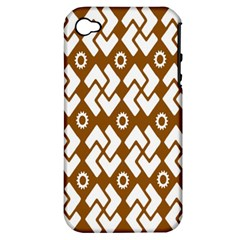Art Abstract Background Pattern Apple Iphone 4/4s Hardshell Case (pc+silicone)