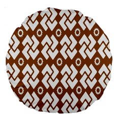 Art Abstract Background Pattern Large 18  Premium Round Cushions