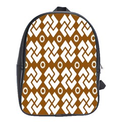 Art Abstract Background Pattern School Bags (XL)