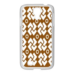 Art Abstract Background Pattern Samsung GALAXY S4 I9500/ I9505 Case (White)