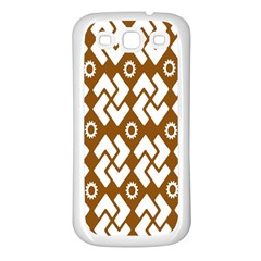 Art Abstract Background Pattern Samsung Galaxy S3 Back Case (White)