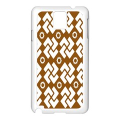Art Abstract Background Pattern Samsung Galaxy Note 3 N9005 Case (white)