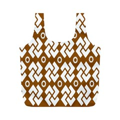 Art Abstract Background Pattern Full Print Recycle Bags (M)