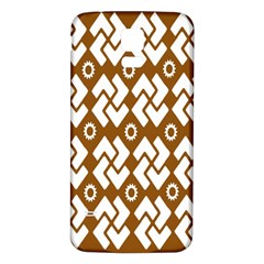 Art Abstract Background Pattern Samsung Galaxy S5 Back Case (White)