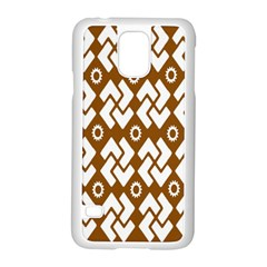 Art Abstract Background Pattern Samsung Galaxy S5 Case (White)
