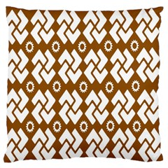 Art Abstract Background Pattern Large Flano Cushion Case (Two Sides)