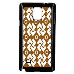 Art Abstract Background Pattern Samsung Galaxy Note 4 Case (Black)