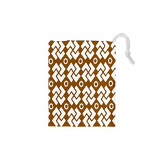 Art Abstract Background Pattern Drawstring Pouches (XS)