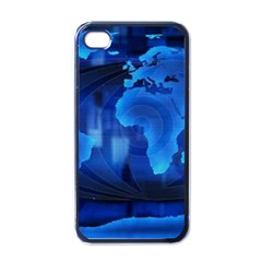 037429167625 Grass The Movie World Map Animated Background Apple iPhone 4 Case (Black)