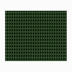 Clovers On Black Small Glasses Cloth