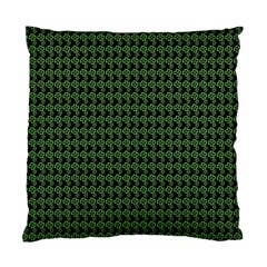 Clovers On Black Standard Cushion Case (Two Sides)