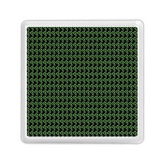 Clovers On Black Memory Card Reader (Square)