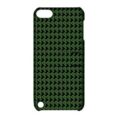 Clovers On Black Apple iPod Touch 5 Hardshell Case with Stand