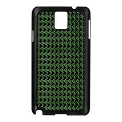 Clovers On Black Samsung Galaxy Note 3 N9005 Case (Black)