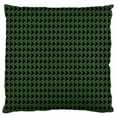 Clovers On Black Standard Flano Cushion Case (Two Sides)
