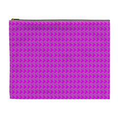 Clovers On Pink Cosmetic Bag (XL)