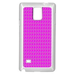 Clovers On Pink Samsung Galaxy Note 4 Case (White)